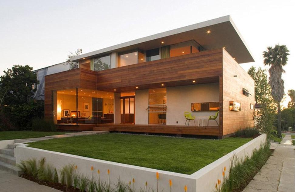 Casa moderna made in california for Casa moderna madera