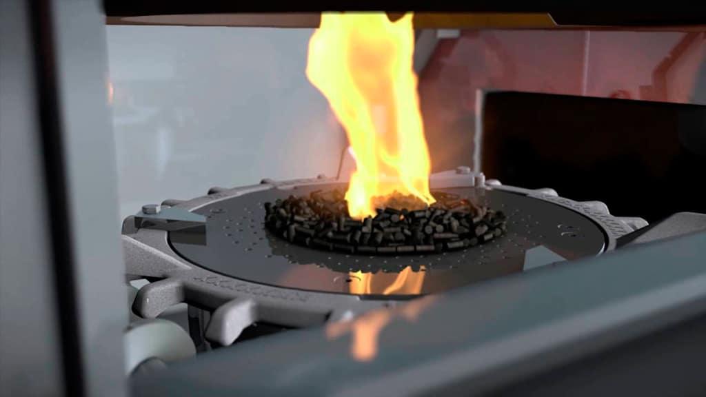 caldera de pellets