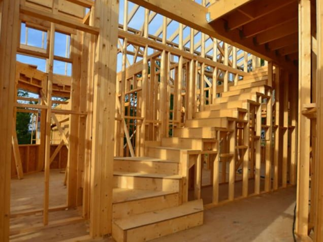 Nueva obra de casa de madera en taradell barcelona blog canexel - Casas estructura de madera ...