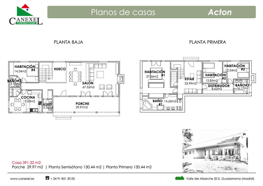 Planos de casas alargadas planta baja plano del segundo for Casas estrechas y alargadas