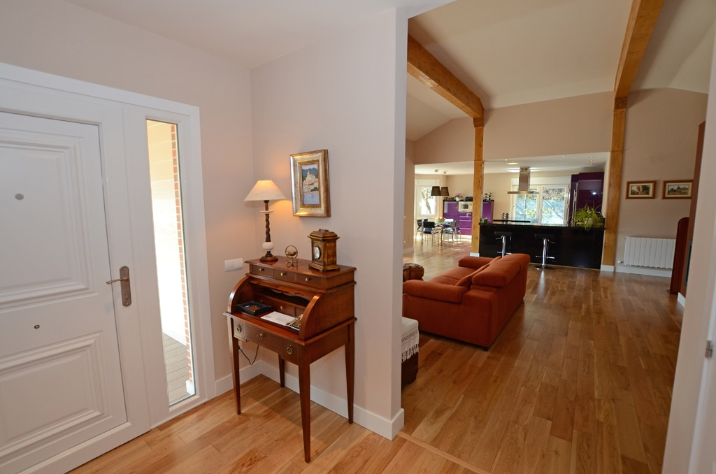 El recibidor la primera impresi n de una casa canexel for Cocina y salon integrados