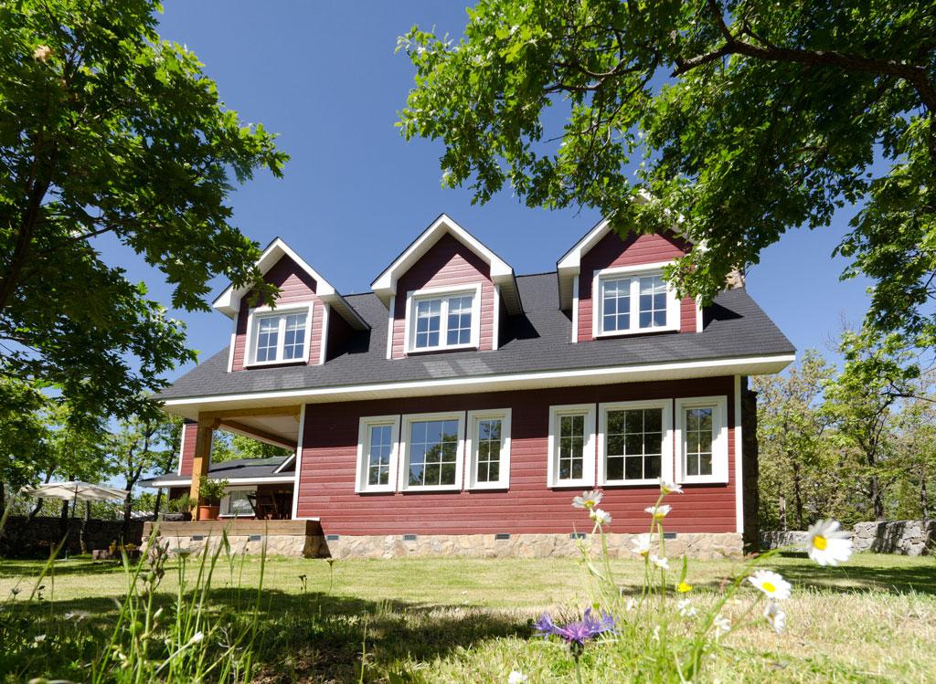 Casas de madera nordicas y canadienses excellent with for Casas de madera canadienses