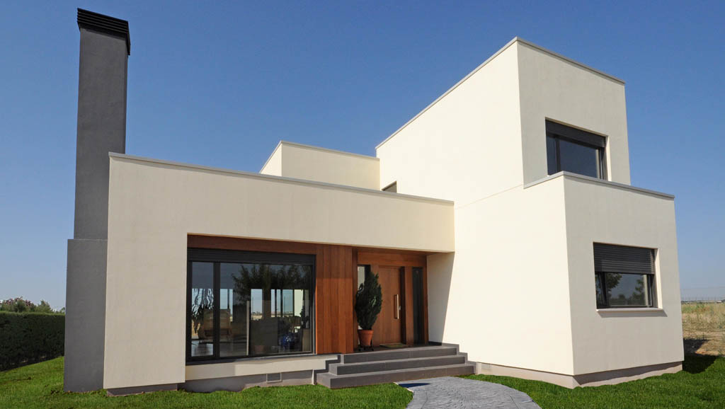 Casa moderna white rock 210m2 for Casa moderna total white