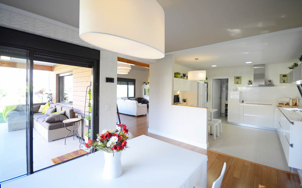 Casa prizma house canexel - Salon y cocina integrados ...