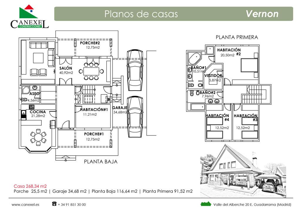 Casa vernon canexel - Plano de chalet ...