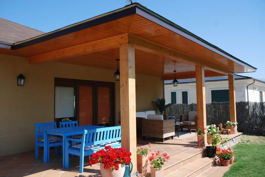 Casa damilon canexel - Como hacer un porche de madera ...