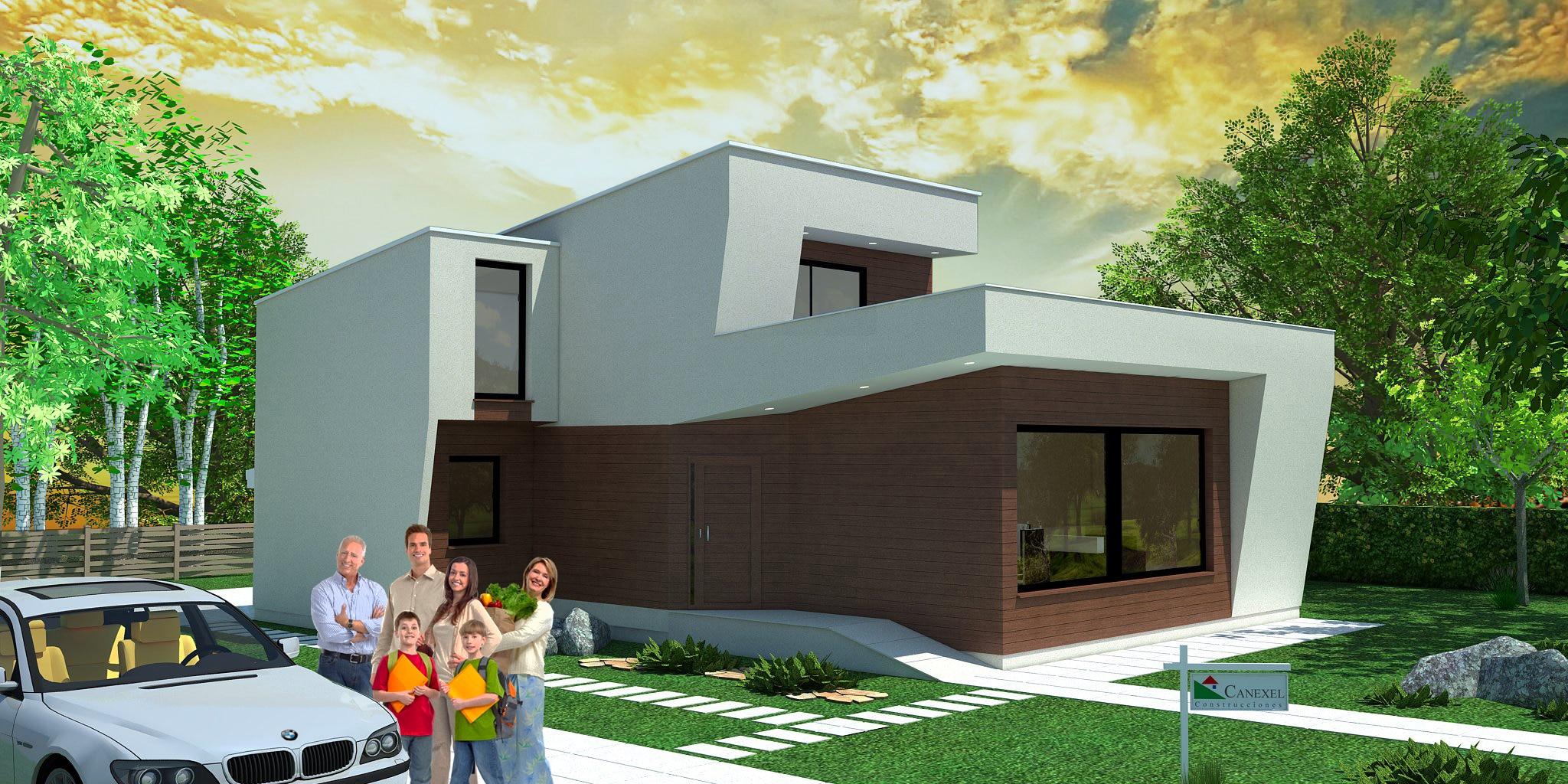 Habitat nueva casa predise ada de estilo moderno canexel - Casa de materiales ...