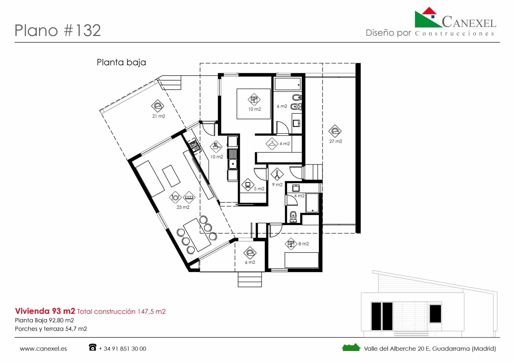 Planos de casas de una planta canexel - Casas planta baja ...