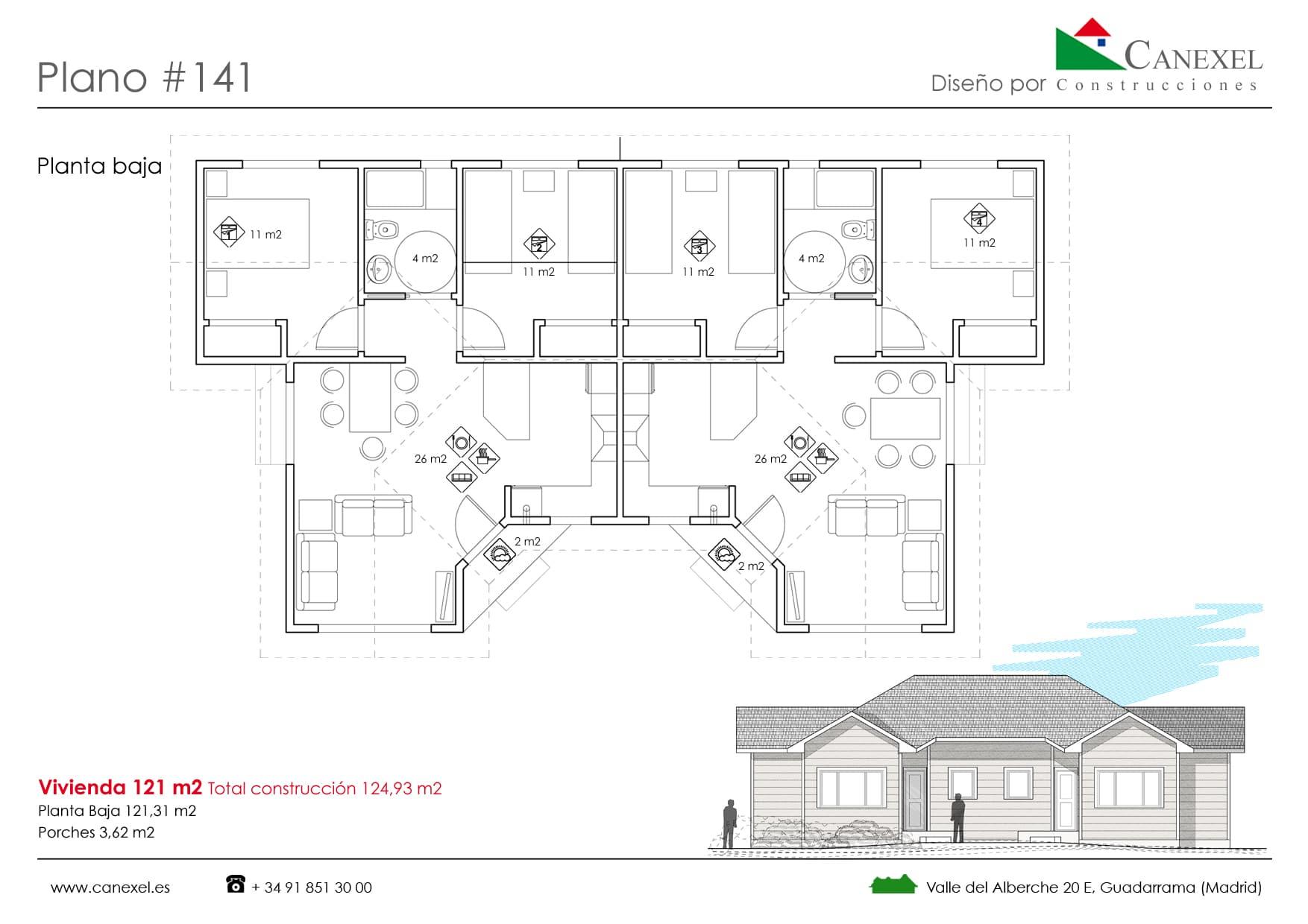 planos de casas de una planta - canexel