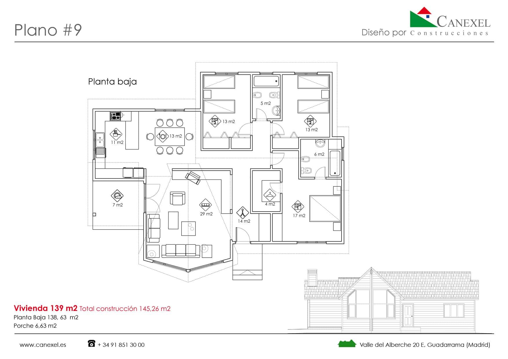 Planos de casas de una planta canexel - Planos de una vivienda ...