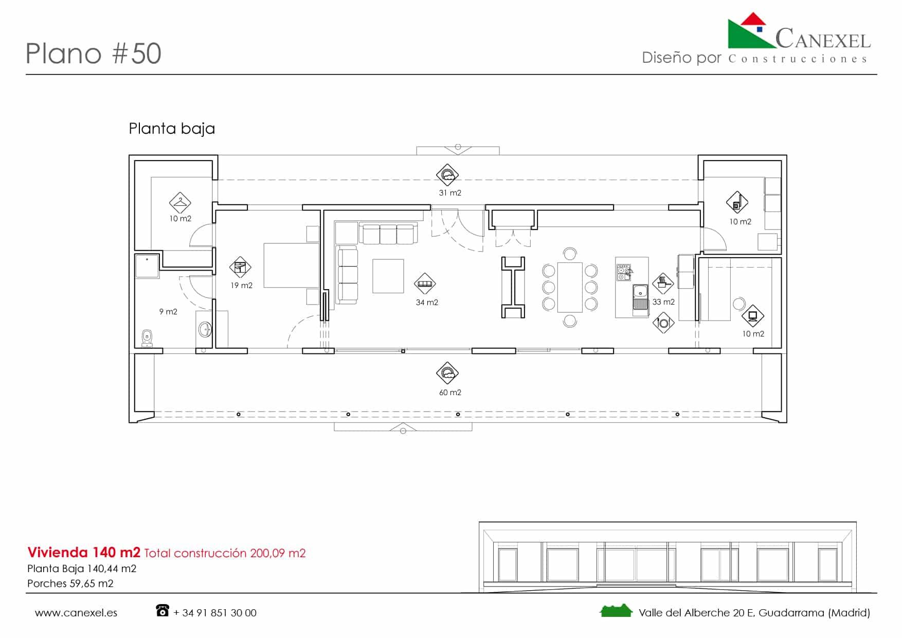 Planos de casas de una planta canexel for Como se disena una casa