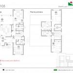 210 m2 plano 105