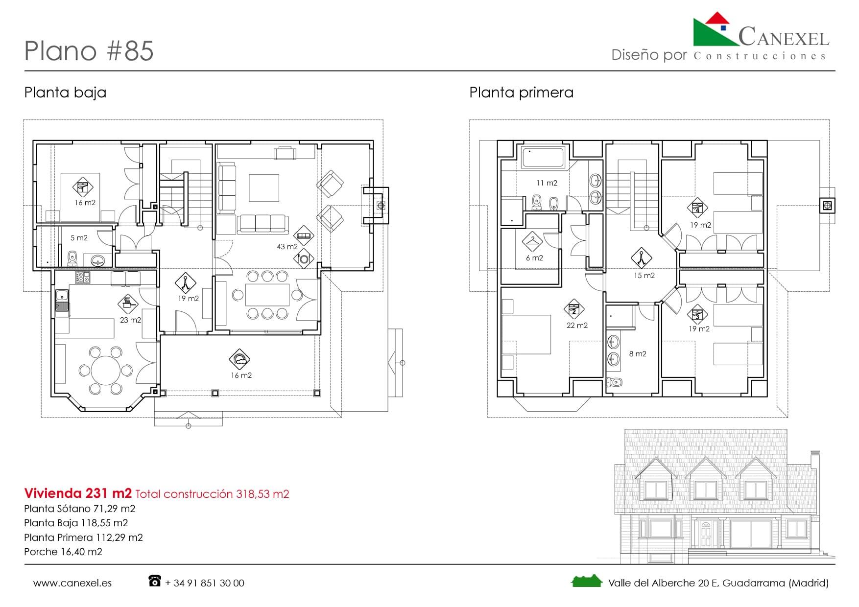 Casas americanas planos dise os arquitect nicos - Planos de casas americanas ...