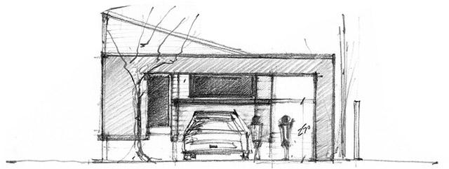 diseño casa alzado