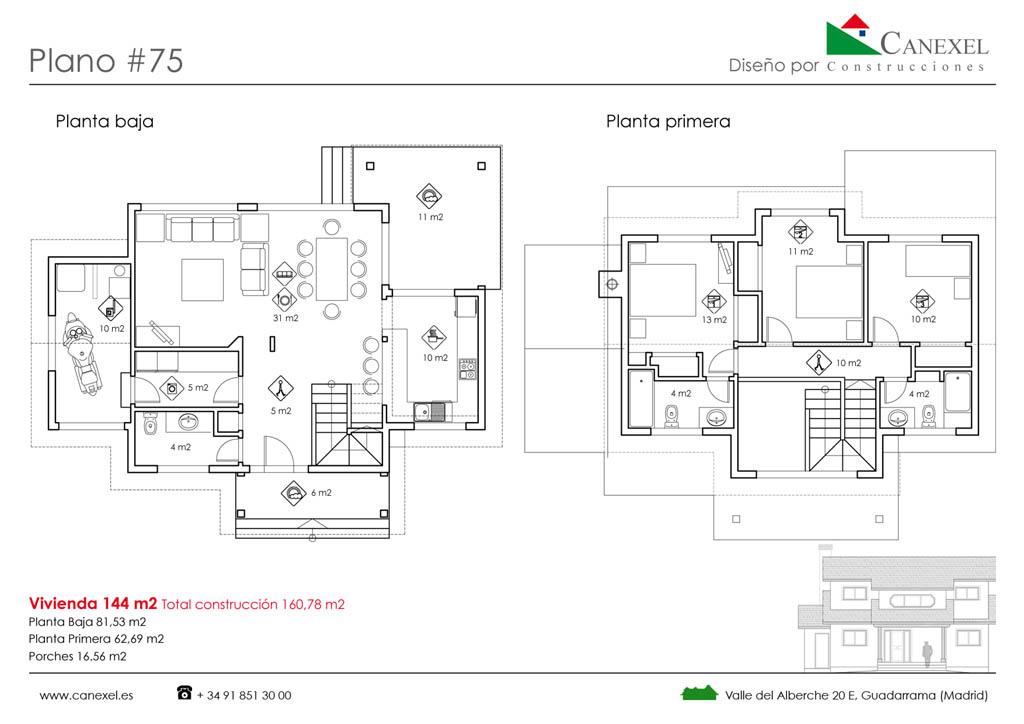 Casa de madera nottaway - Planos de casas de madera de una planta ...