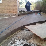 finalizando obra terraza madera