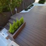 terraza madera escaleras