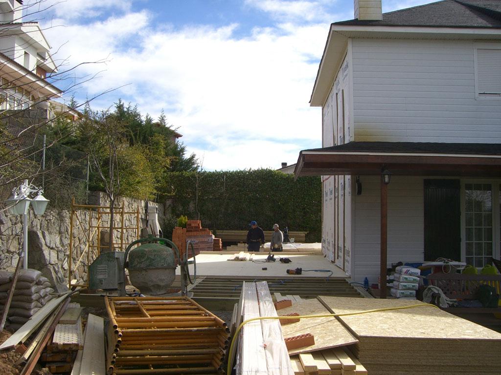 Forjado ampliacion casa madera for Canexel construcciones