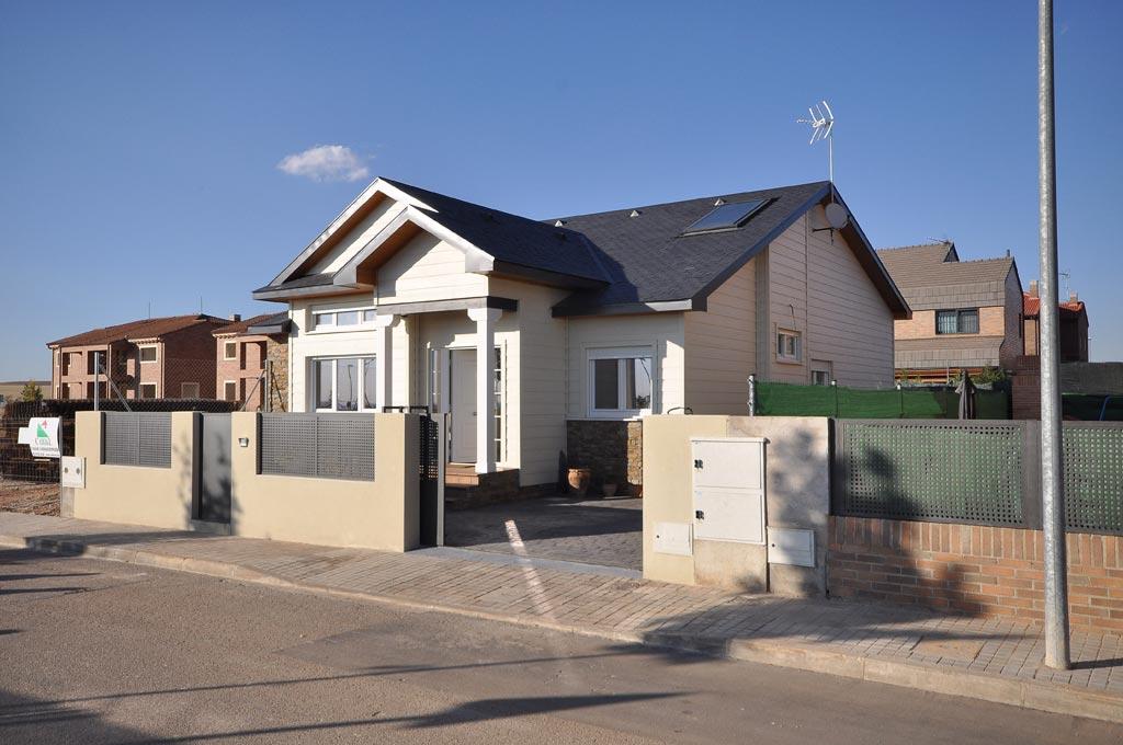 Casa adosada de madera en madrid proceso constructivo - Casas de canexel ...
