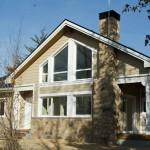 casa de madera adosada