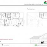 plano de la casa de madera
