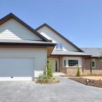 Fachada Principal - Edmonton, casa de madera
