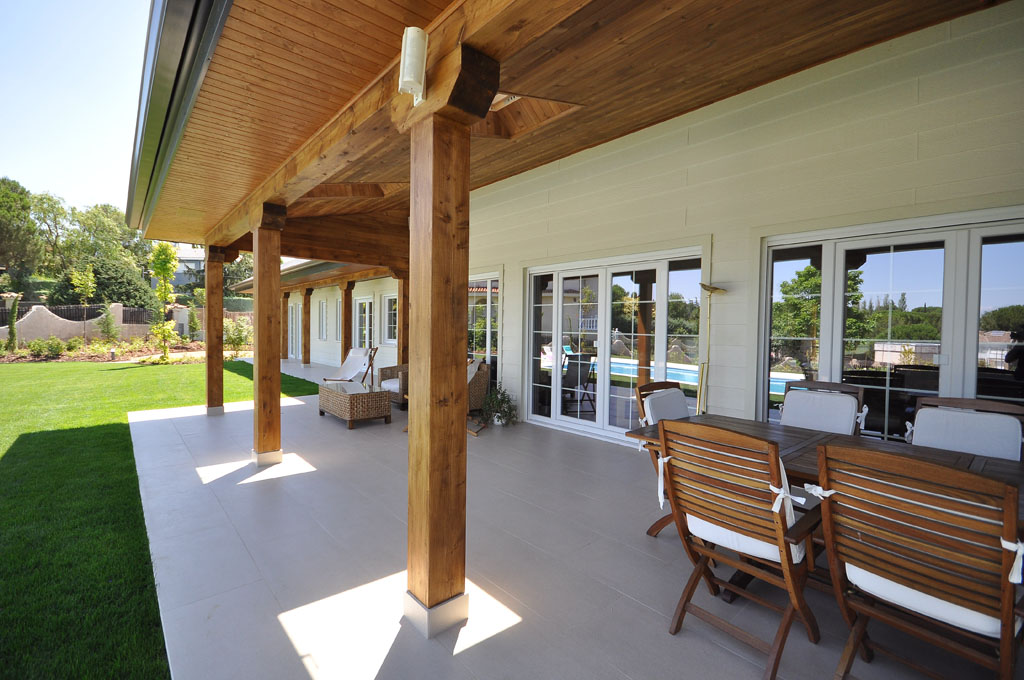 porche edmonton casa de madera