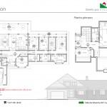 Plano - Edmonton, casa de madera