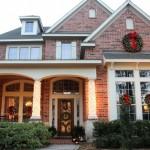 Decoración Navidad casa de madera