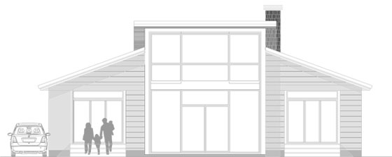 Diseño alzado nueva casa de madera