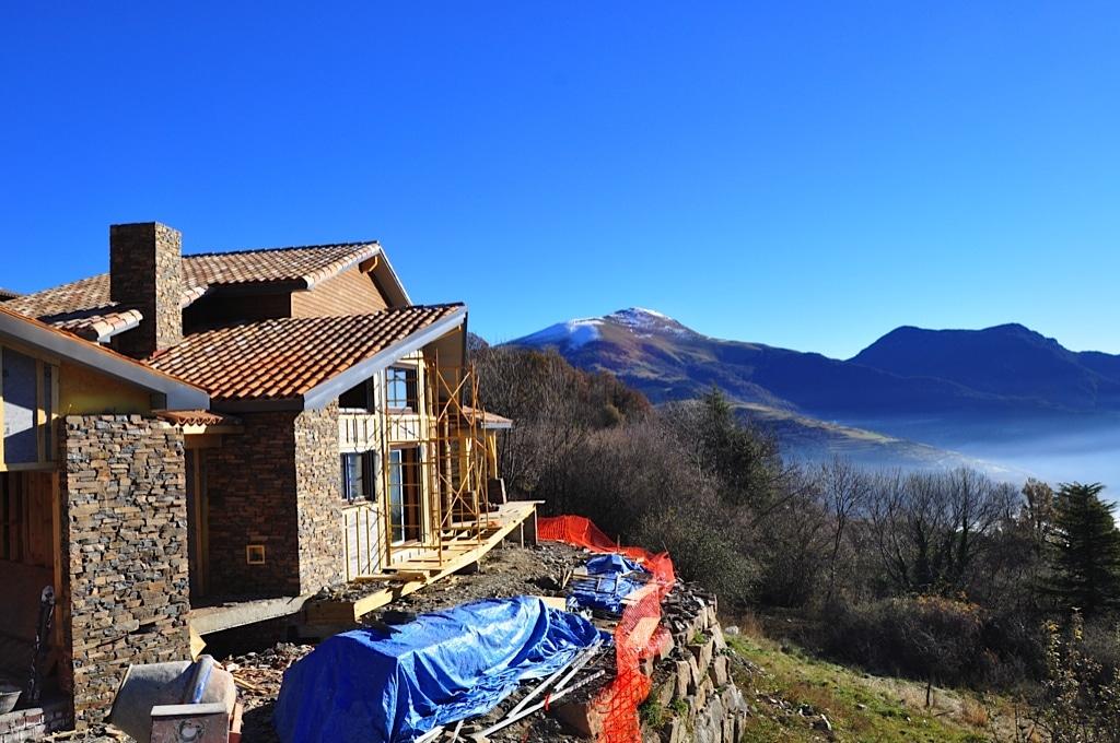 Paisajes de casas de madera