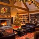 Decoración navidad en Salón