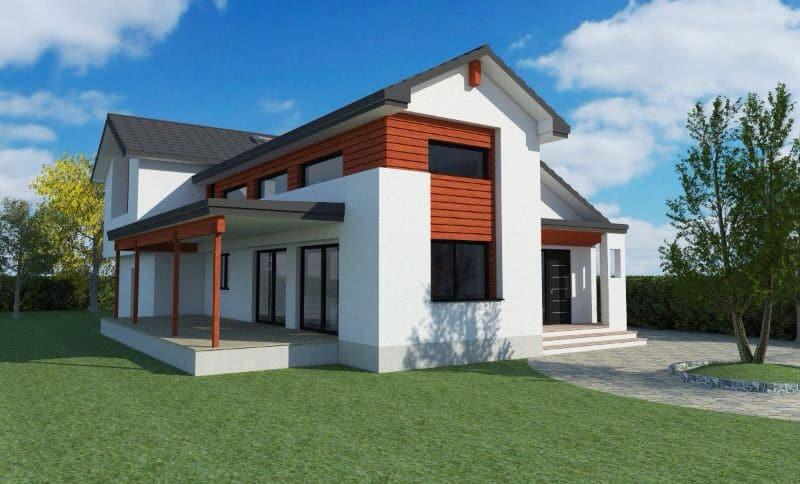 Dise o 3d de una nueva casa en valdemorillo canexel for Diseno de casas 3d