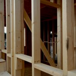 Estructura de madera en casa Canexel