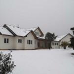 Nieve en la fachada trasera