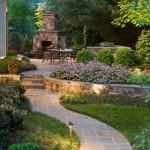 camino jardin chimenea