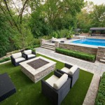 jardin moderno piscina