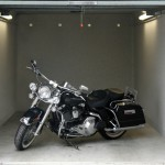 puerta garaje harley