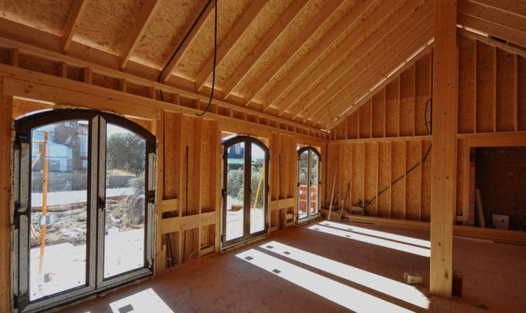 Estructura del Salón de Casa de madera