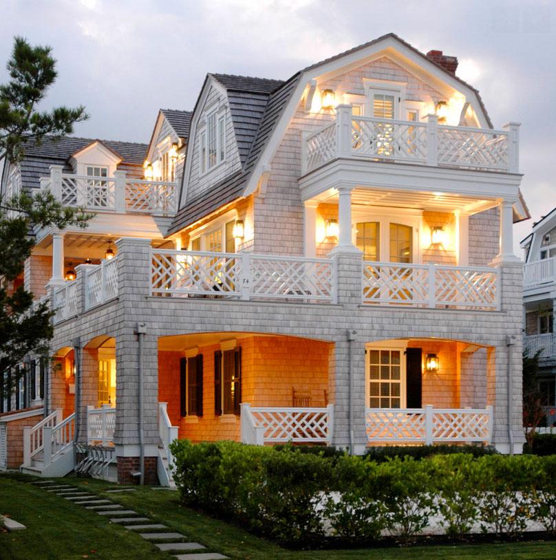 Los hamptons el para so neoyorquino casas de madera canexel - Casas de madera blancas ...
