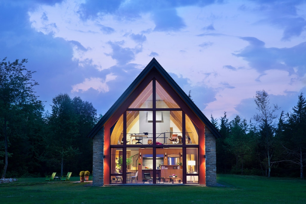 Casa pasiva con ventanal