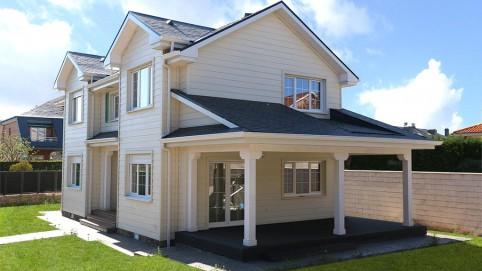 Casa de madera canadiense