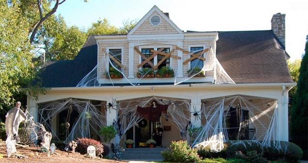 Casa americana en Halloween