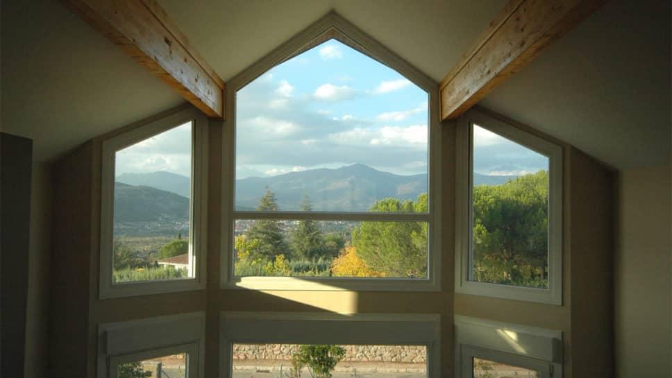 casa con vistas a la sierra de madrid
