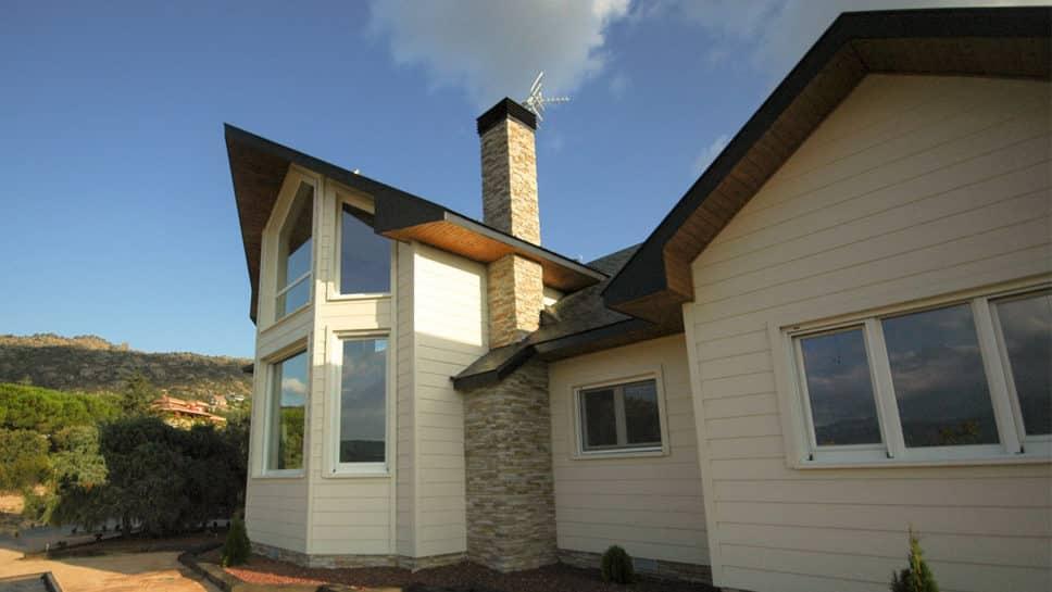 Casa de madera en collado villalba canexel for Diseno de casa de 9 x 12
