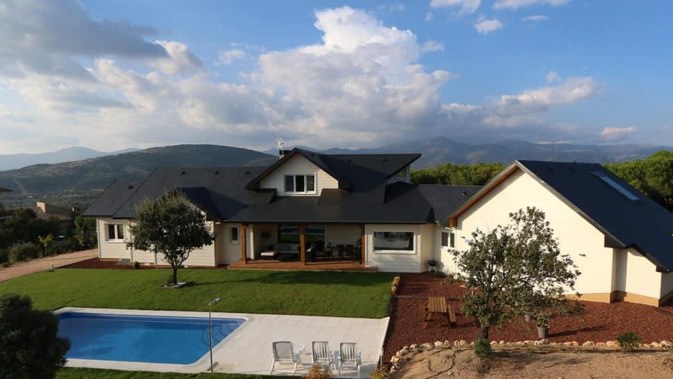 Casa de madera en collado villalba canexel - La casa de la madera valencia ...