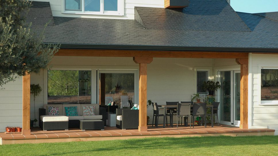 porche social casa de madera