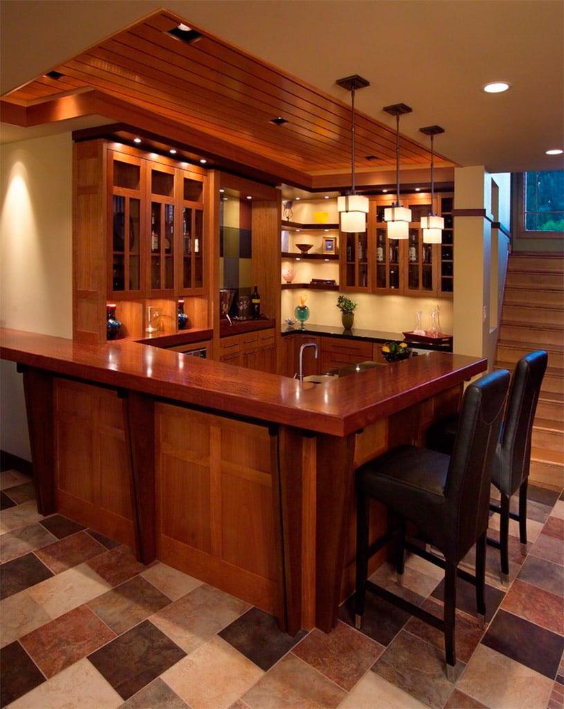 Barras de bar en casa Canexel