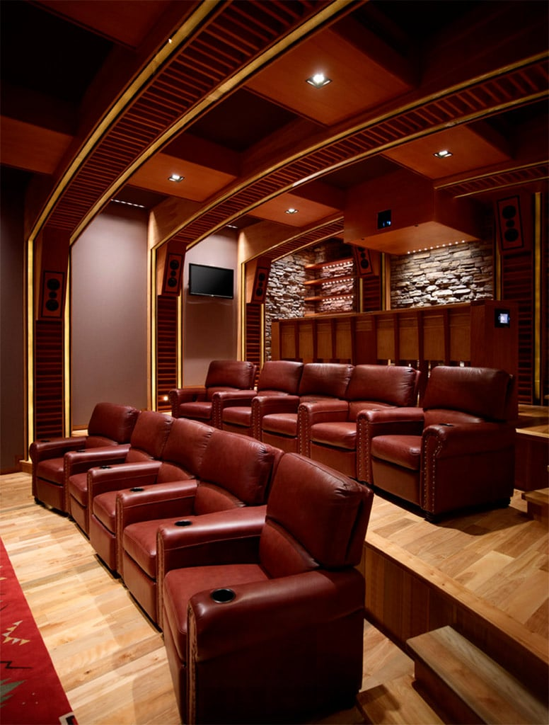 Salas de cine en casa canexel - Home theatre design layout ...