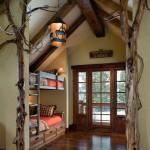 altura doble en una casa rústica